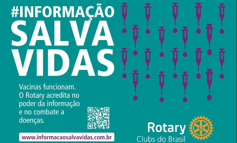 Campanha nacional do Rotary defende vacinas contra a covid