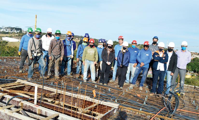 Nove andares em seis meses: um recorde na construção