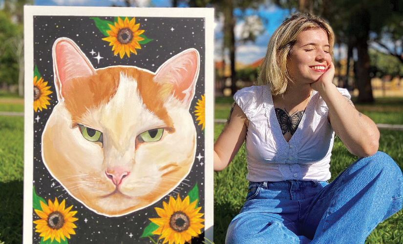 A jovem pintora dos 'pets'