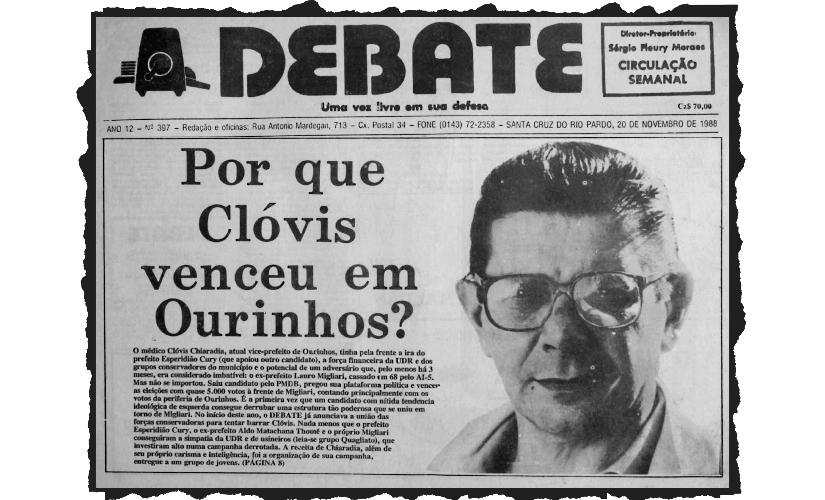 História de uma campanha organizada por 'moleques': o texto de 1988 sobre Clóvis Chiaradia