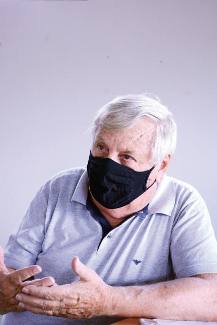 Pedro Milton  Pegorer, um dos idealizadores do projeto que ergueu a 'Fazenda da Esperança' no distrito de Sodrélia