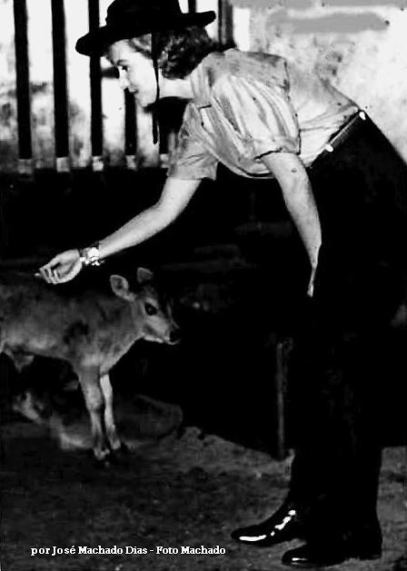 """Numa cena do filme """"Pão de Açúcar"""", Rhonda  alimenta animais na fazenda Califórnia, na cidade de Jacarezinho"""