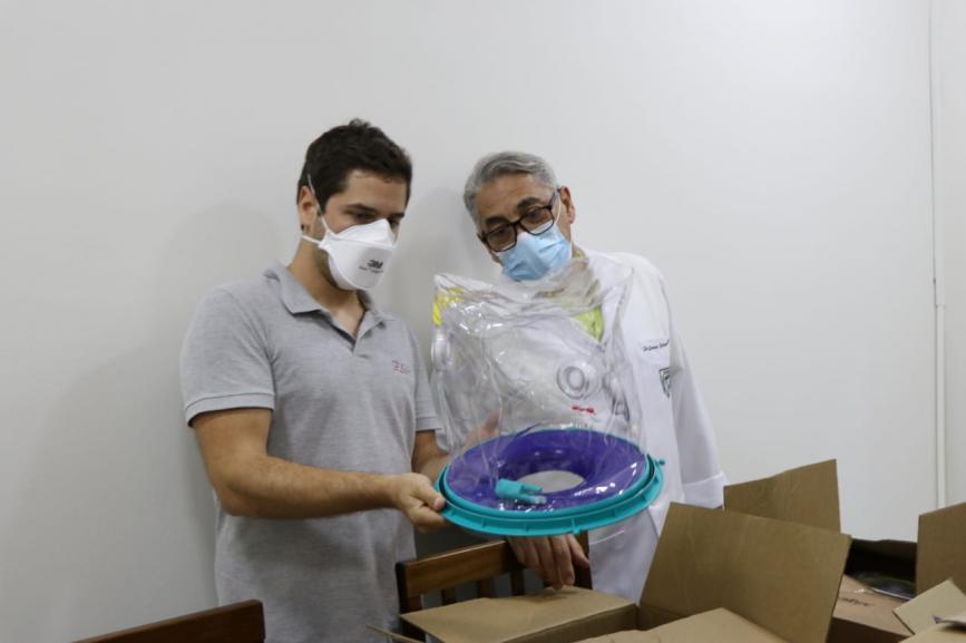 O empresário Caito Quagliato ao lado do médico Jonas (Foto: Ascom)