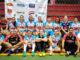 PLACAR ELÁSTICO — As meninas tricampeãs do torneio já impressionaram logo na estreia, com uma goleada