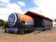 A estrutura é inflável e percorre várias cidades ao longo da programação cultural