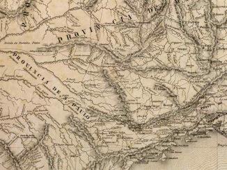 """Mapa de 1800 mostra província de São Paulo e assinala a região como """"terras inteiramente desconhecidas"""""""
