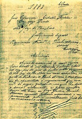 Documento de terras datado de 1882