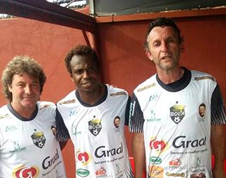 """Tupãzinho, Edilson e Neto, no """"Leônidas Camarinha"""""""