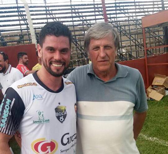O prefeito de Ourinhos, Lucas Pocay (ao lado de Toko Degaspari), foi um dos artilheiros