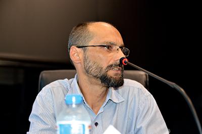 O advogado Marcelo Picinin, durante depoimento na CPI da Câmara