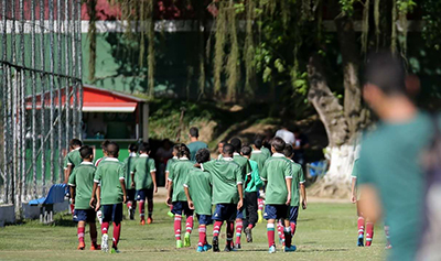 Cristian treina três vezes na semana no CT do Fluminense