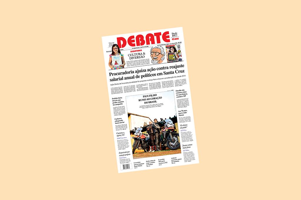 Veja capa da edição impressa deste domingo, 11 de outubro de 2020