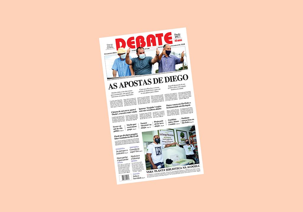 Veja capa da edição especial das eleições desta semana, 22 de novembro de 2020 *