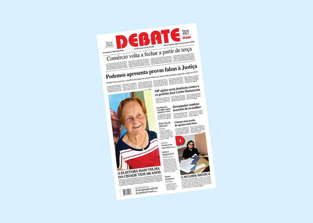 Veja capa da edição impressa deste domingo, 29 de novembro de 2020 *