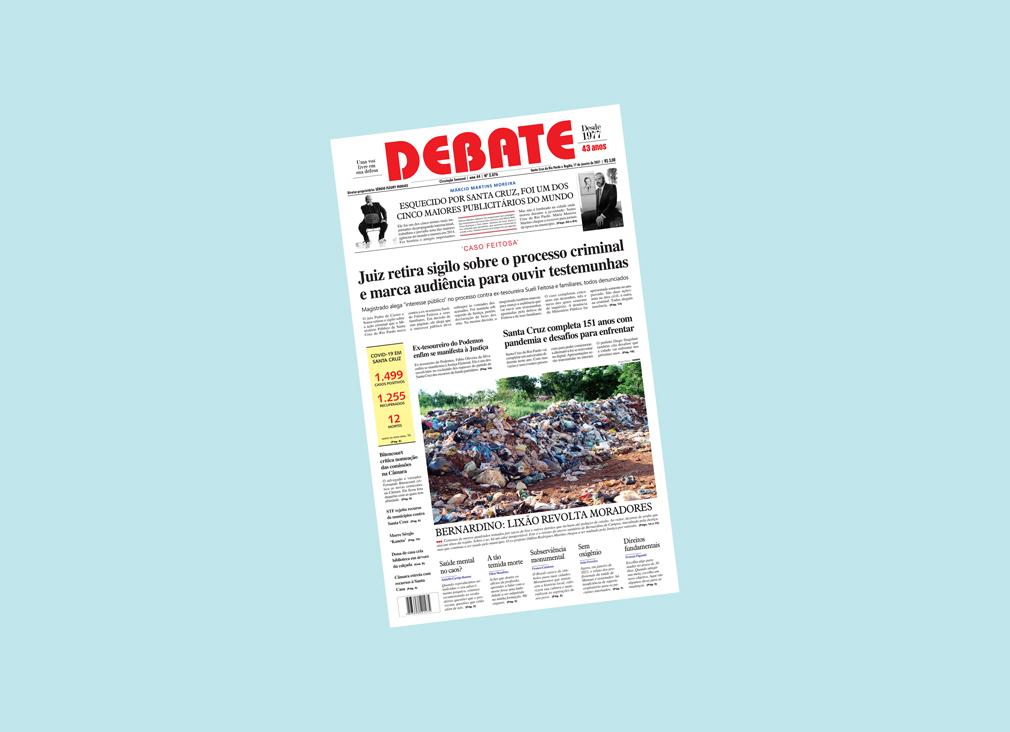 Veja capa da edição impressa deste domingo, 17 de janeiro de 2021 *
