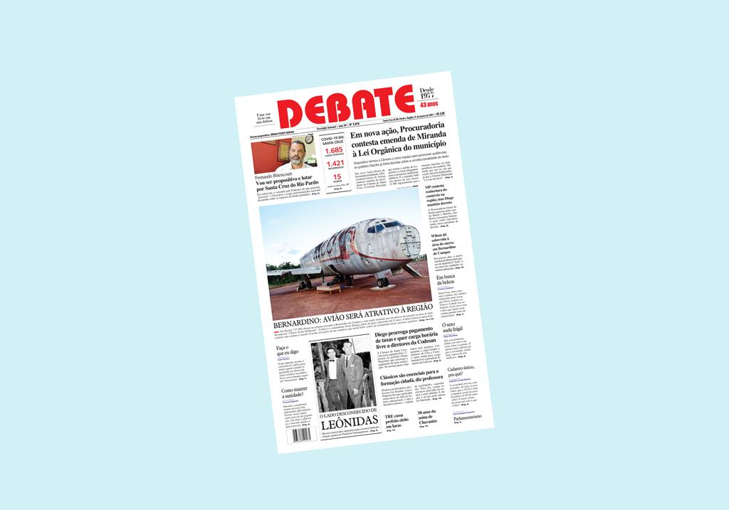 Veja capa da edição impressa deste domingo, 31 de janeiro de 2021 *