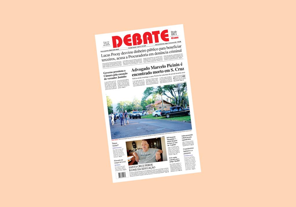 Veja capa da edição impressa deste domingo, 7 de fevereiro de 2021 *