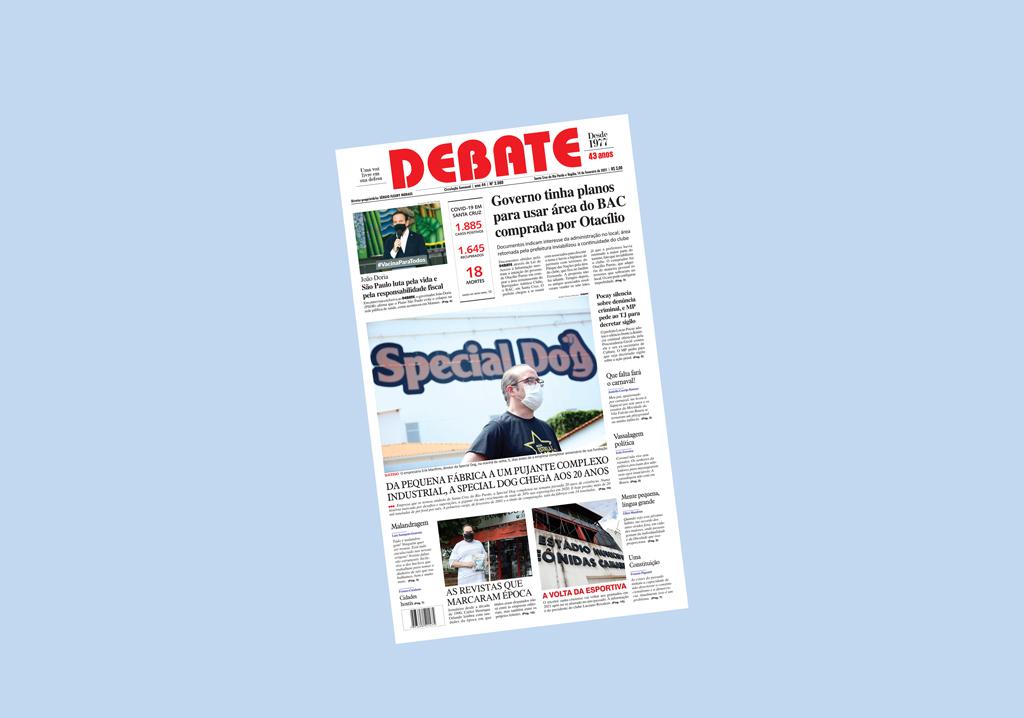 Veja capa da edição impressa deste domingo, 14 de fevereiro de 2021 *
